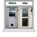 Cat Flap Replacement removal -Window & Door Doctor (West Midlands) Spares, repairs and replacements to double glazing, locks and hindges - Halesowen, Blackheath, Kingswinford, Stourbridge, Lye, Hagley, Oldswinsford, Brierley Hill, Dudley.