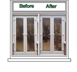Patio Door Misted Repair office & Commercial Window & Door Doctor (West Midlands) Spares, repairs and replacements to double glazing, locks and hindges - Halesowen, Blackheath, Kingswinford, Stourbridge, Lye, Hagley, Oldswinsford, Brierley Hill, Dudley.